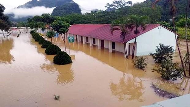 暴雨洪水袭击越南北部山区各省造成严重的损失 hinh anh 1
