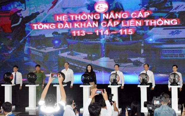 胡志明市启用113、114、115急救电话系统升级版 hinh anh 1