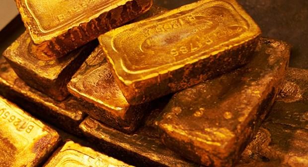 上周越南国内黄金价格上涨100万越盾/两 hinh anh 1