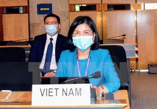 越南代表团积极参加联合国人权理事会第45次会议 hinh anh 2