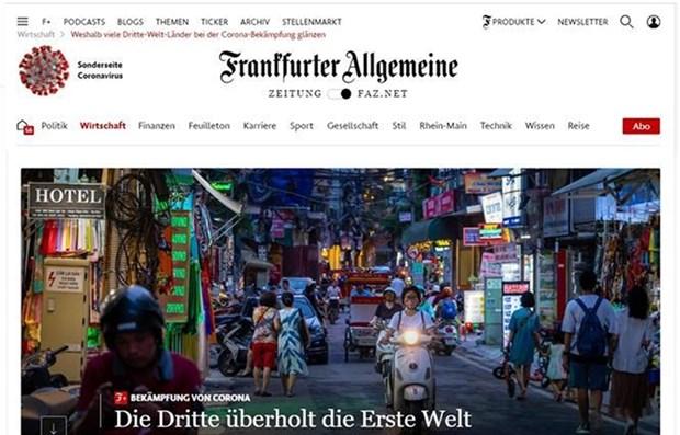 德国《法兰克福汇报》:要将越南视为新冠肺炎疫情防控阻击战的典范 hinh anh 1