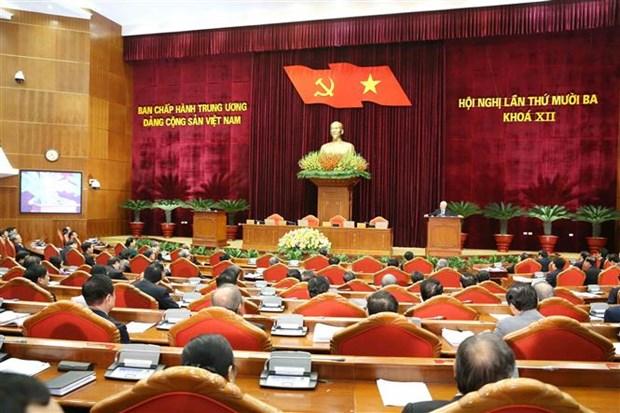 迎接越共十三大:越南共产党第十二届中央委员会第十三次全体会议圆满闭幕 hinh anh 1