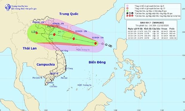 越南政府总理就克服暴雨洪水后果及应对第7号台风工作下发通知 hinh anh 1