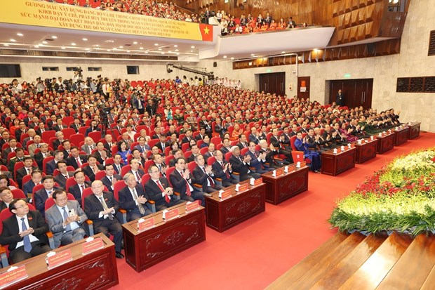 迎接党的十三大:越共中央总书记、国家主席阮富仲出席越共河内市第十七次代表大会 hinh anh 3
