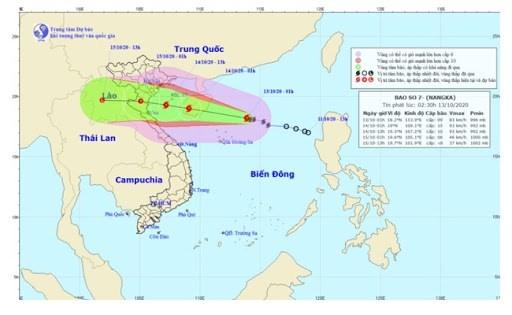 7号台风向西西北方向移动 台风强度可能将继续加强 hinh anh 1