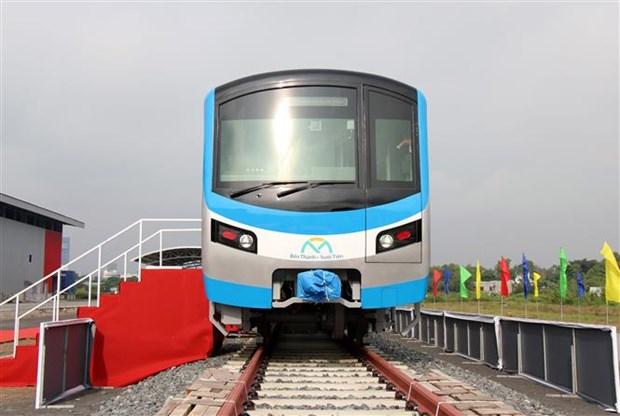 胡志明市城市地铁一号线首列车接车仪式举行 hinh anh 2