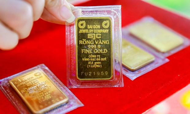 10月15日上午越南国内黄金价格较为稳定 hinh anh 1