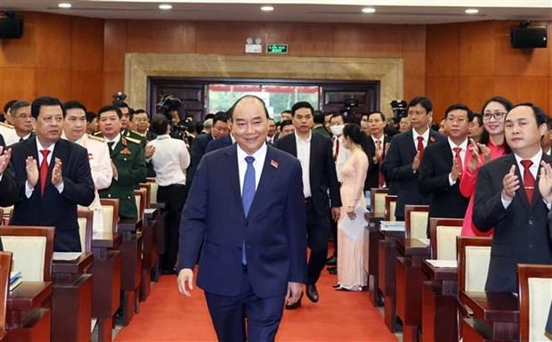 迎接党的十三大:政府总理阮春福出席越共胡志明市第十一次代表大会 hinh anh 1