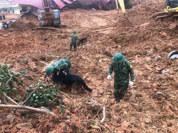 在广治省向化县山体滑坡事件牺牲的22名干部战士追悼会将于22日举行 hinh anh 1