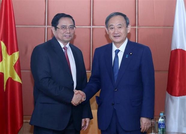 越共中央组织部部长、越日友好议员小组组长会见日本首相菅义伟 hinh anh 1