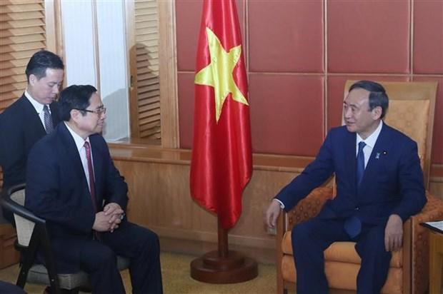 越共中央组织部部长、越日友好议员小组组长会见日本首相菅义伟 hinh anh 2