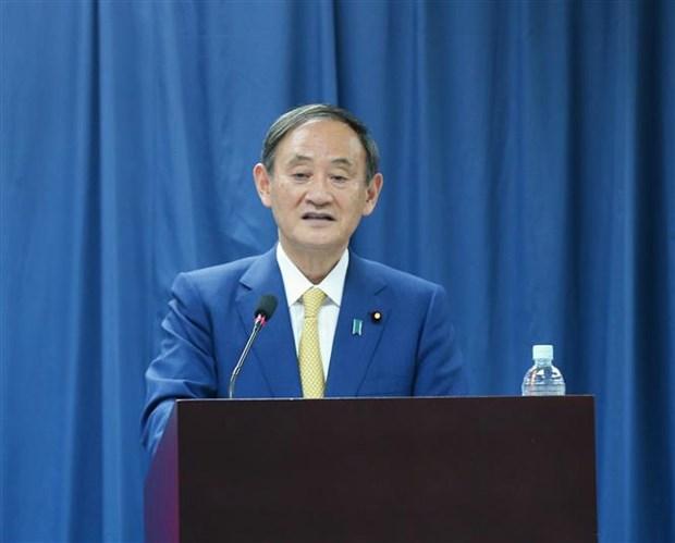 日本首相菅义伟会见越日大学的大学生 hinh anh 2