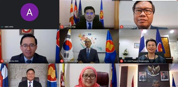 东盟-韩国联合合作委员会会议以视频形式举行 hinh anh 1