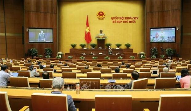 越南第十四届国会第十次会议新闻公报(第二号) hinh anh 1