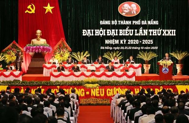 迎接越共十三大:政府副总理张和平出席越共岘港市第二十二次代表大会 hinh anh 1