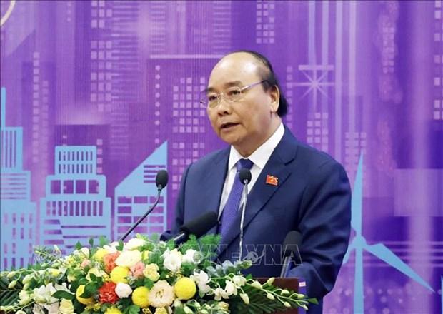 政府总理阮春福:发展智慧城市 走向人的全面发展 hinh anh 1