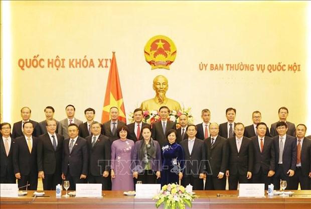 国会主席阮氏金银会见越南驻外大使和代表机构首席代表 hinh anh 1