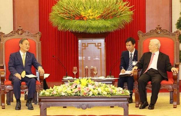 日本首相菅义伟高度评价访问越南和印尼之旅取得的成功 hinh anh 1