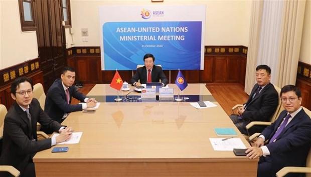 ASEAN 2020:东盟-联合国外交部长会议召开 hinh anh 2