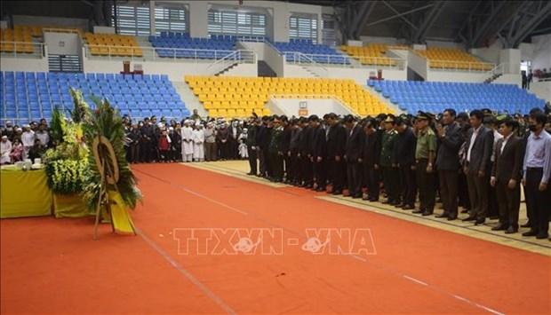 在广治省向化县山体滑坡事件中牺牲的22名干部战士吊唁仪式和追悼会隆重举行 hinh anh 1