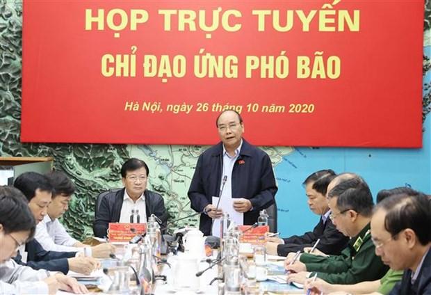 政府总理阮春福:全力做好第九号台风防范应对工作 把人员和财产转移到安全地带 hinh anh 1