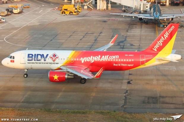 """受台风""""莫拉菲""""的影响 越捷航空对部分航班进行调整 hinh anh 1"""