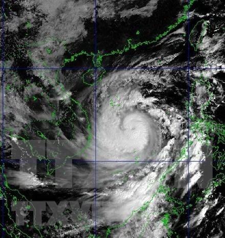 第9号台风加强至14级 阵风17级 台风中心位置位于岘港至富安海域 hinh anh 1