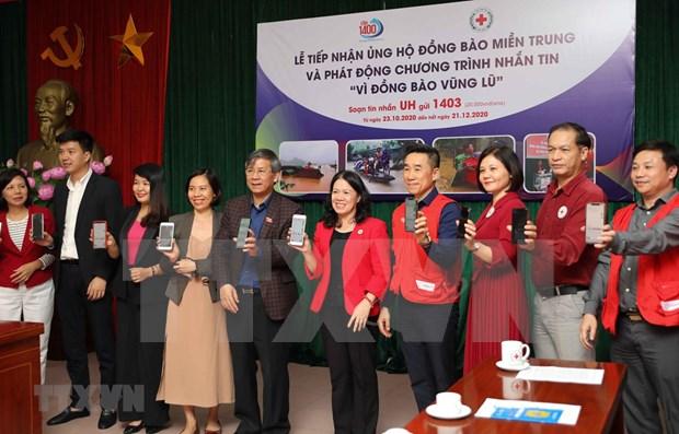 越南启动为洪水灾民捐款的手机短信捐助活动 hinh anh 1