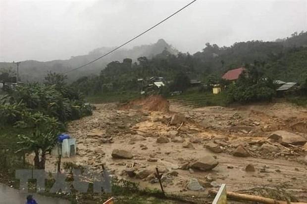 联合国秘书长就越南中部洪灾和泥石流灾害致慰问电 hinh anh 1