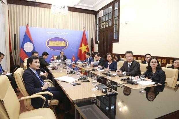 越南与老挝外交部第五次政治磋商以视频方式举行 hinh anh 1