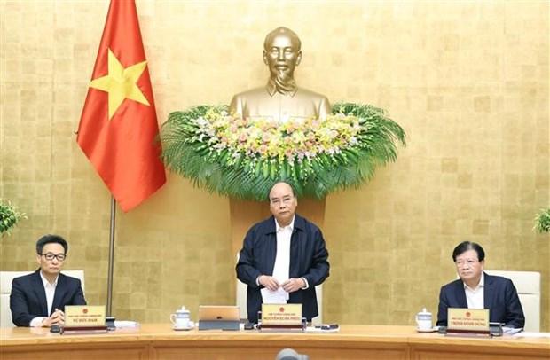 阮春福总理: 多努力一倍甚至两倍 致力提高劳动生产率 弥补中部地区人民遇到的损失 hinh anh 1