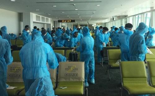 新冠肺炎疫情:将滞留在文莱的近240名越南公民接回国 hinh anh 1