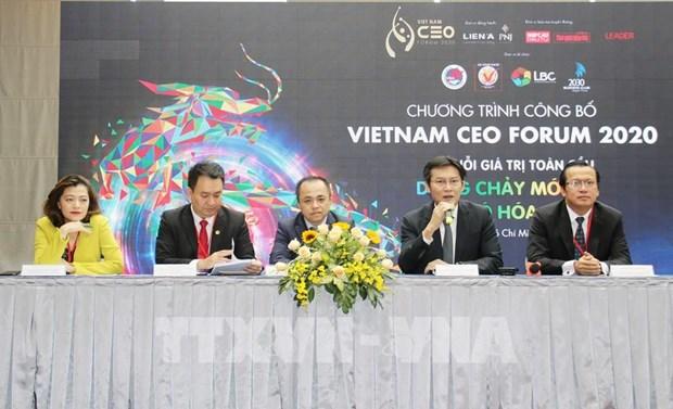 2020年越南首席执行官论坛将于本月19日举行 hinh anh 1