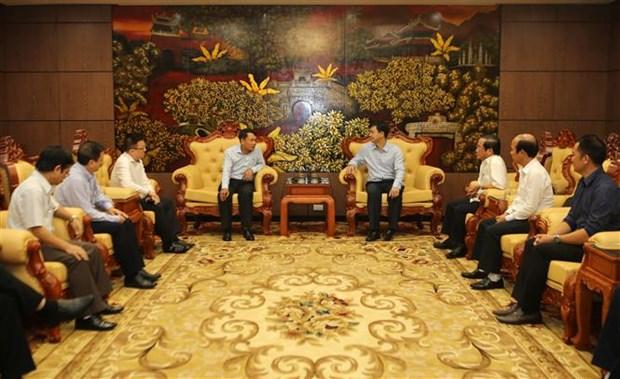 越南通讯社代表团莅临广治省开展向受灾群众送温暖献爱心活动 hinh anh 1