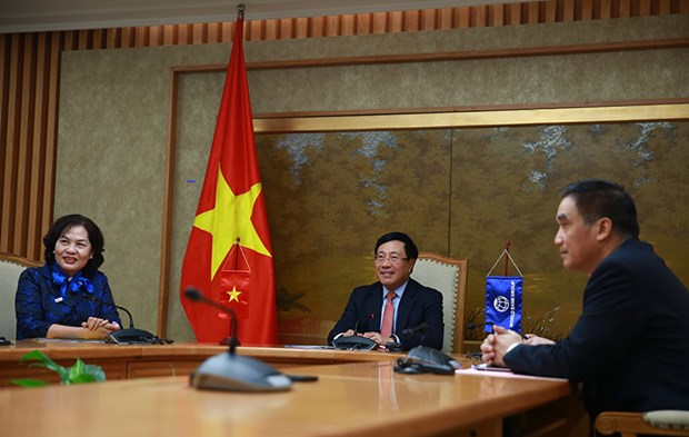 范平明与世行首席执行官阿克塞尔举行视频工作会议 hinh anh 1