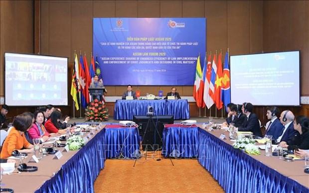 2020年东盟法律论坛:提升执法效率与民事判决执行力 hinh anh 1