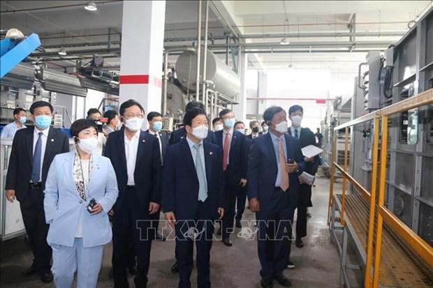 韩国国会高级代表团访问同奈省企业 hinh anh 1
