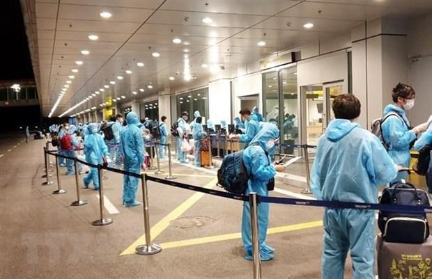 新冠肺炎疫情:将在英国滞留的270多名越南公民安全接回国 hinh anh 1