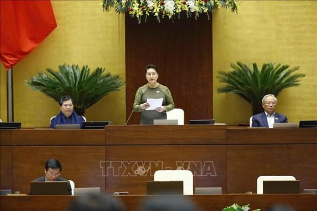 越南第十四届国会第十次会议新闻公报(第十三号) hinh anh 1