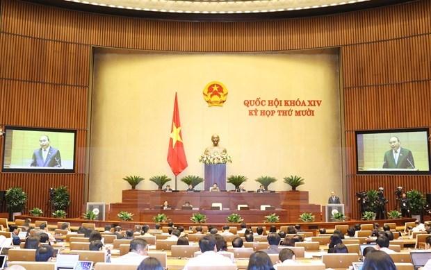 越南第十四届国会第十次会议:开展人事工作和通过2021年经济社会发展计划的决议 hinh anh 1