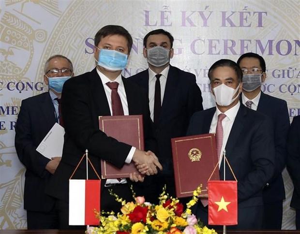 越南与波兰签署金融合作协议 hinh anh 1