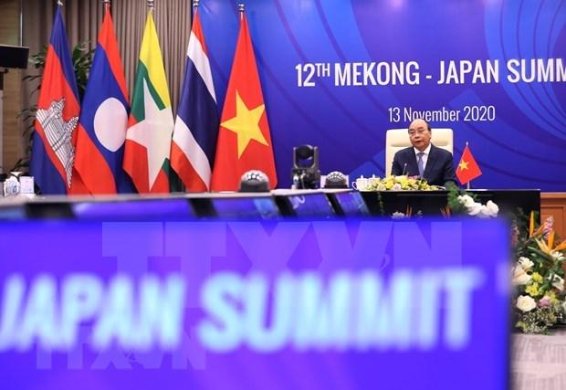 ASEAN 2020:第12届湄公河流域国家与日本峰会在河内举行 hinh anh 1