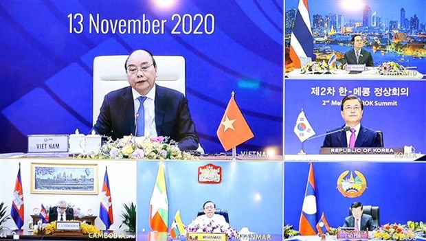 第37届东盟峰会第二个工作日:加强湄公河流域国家与韩国和日本互联互通与合作 hinh anh 1