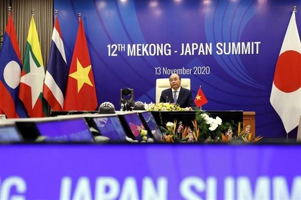 第37届东盟峰会第二个工作日:加强湄公河流域国家与韩国和日本互联互通与合作 hinh anh 2