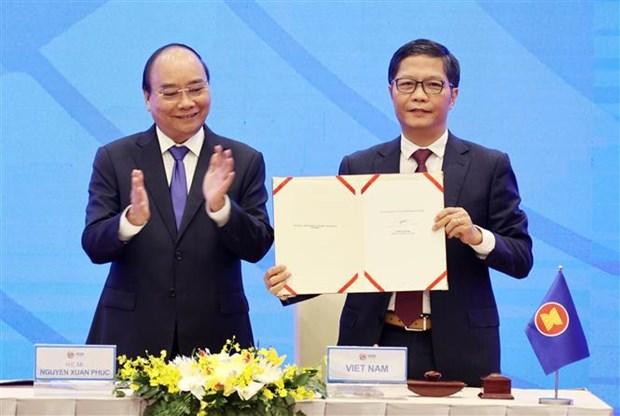 《区域全面经济伙伴关系协定》(RCEP)顺利签署 hinh anh 1