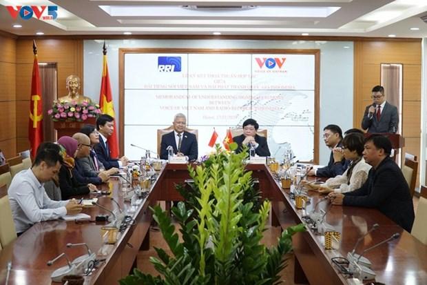 促进越南之声广播电台与阿根廷和印度尼西亚国家广播电台之间的合作 hinh anh 1