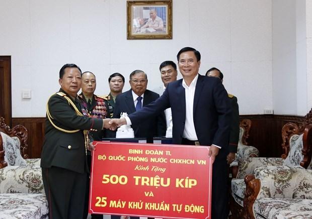 越南国防部协助老挝防控新冠肺炎疫情 hinh anh 2