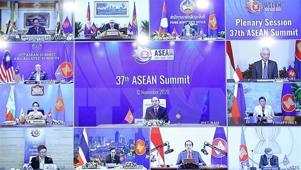 """第37届东盟峰会主席声明:""""齐心协力与主动适应"""" hinh anh 1"""