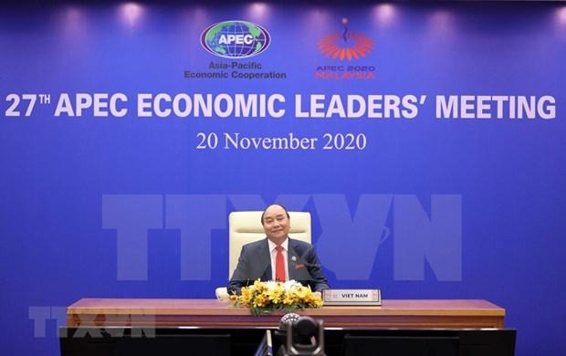 越南政府总理阮春福出席APEC第27次领导人会议 hinh anh 1