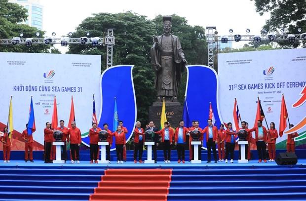 第三十一届东南亚运动会启动仪式在河内举行 hinh anh 1